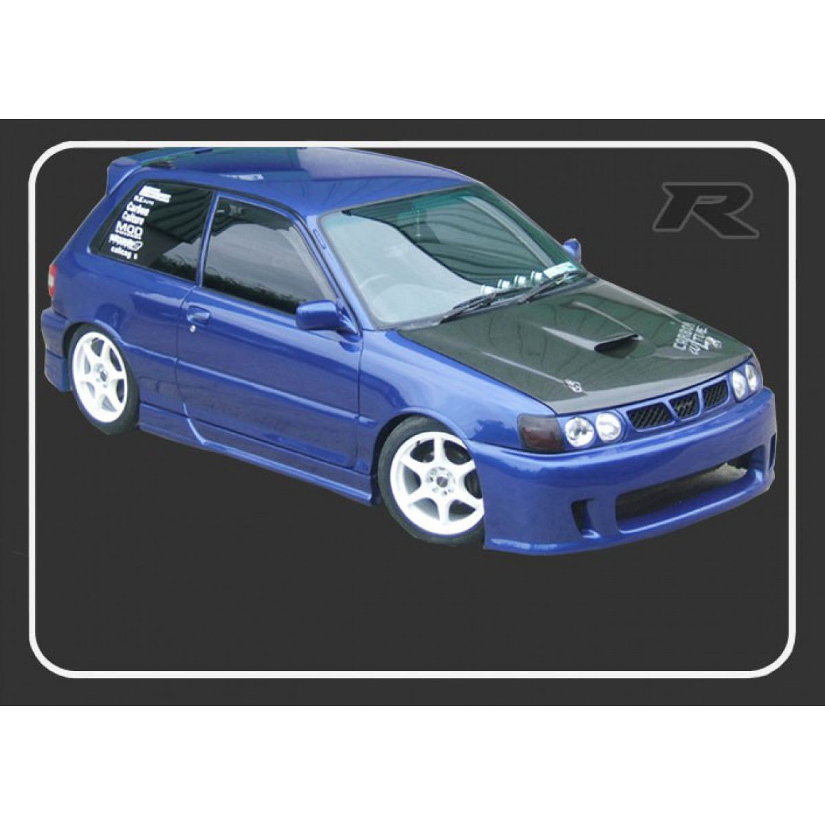 STARLET GT TURBO 90-95 CARBON BONNET WITH VENT SGTT - TOYOTA
